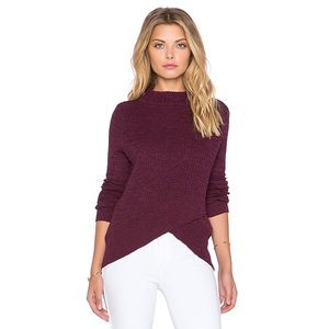 Free People Boho Wrap Sweater in Plum
